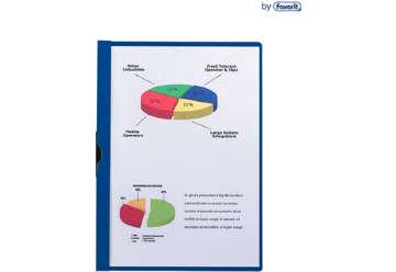 Immagine di Cartellina in ppl con clip blu A4