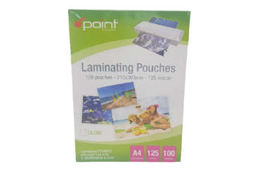 Immagine di Carta laminata per plastificatore - Pouches A4 125 micron 216x303mm
