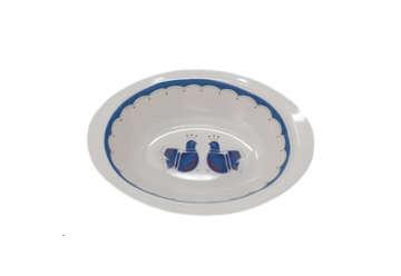 Immagine di Lavafrutta ovale disegno pavoncelle cm 30 150gr
