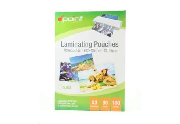 Immagine di Carta laminata per plastificatore - Pouches A3 80 micron 303x426mm