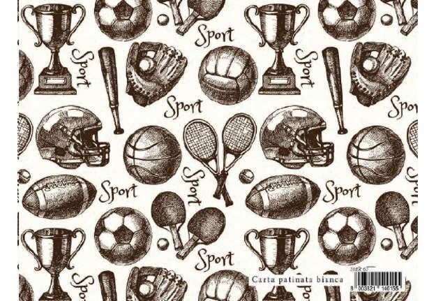 Immagine di Foglio carta regalo Maschili - Sport 70x100