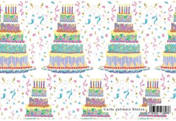 Immagine di Foglio carta regalo Sweet - torta 70x100