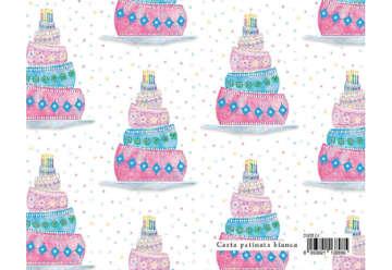 Immagine di Foglio carta regalo Sweet - Torta compleanno 70x100