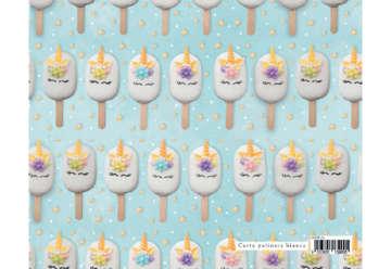 Immagine di Foglio carta regalo Sweet - Unicorno gelato 70x100