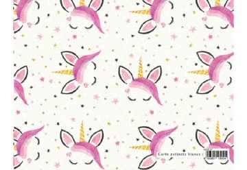 Immagine di Foglio carta regalo Design dolci chicche - Unicorno e stelline 70x100