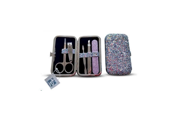 Immagine di Set manicure glitter blu 5pz
