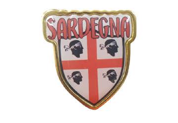 Immagine di Spilla Metallo Scudetto Sardegna 2.5x2.5cm