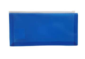 Immagine di Busta con zip blu 25.8x13.3cm