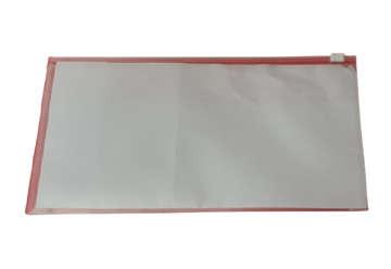 Immagine di Busta con zip trasparente 25.8x13.3cm