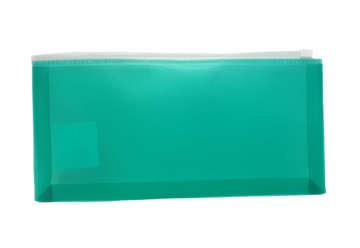 Immagine di Busta con zip verde 25.8x13.3cm