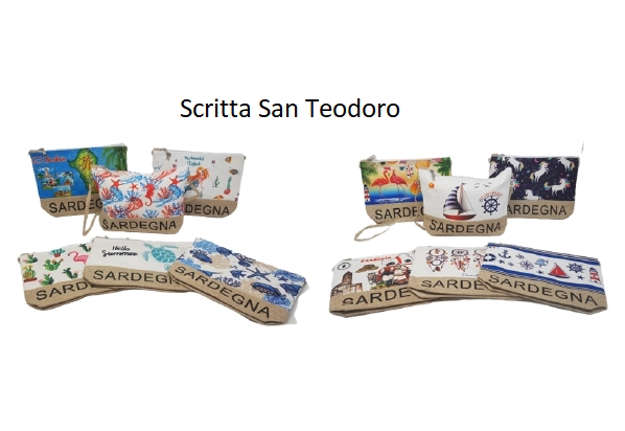 Immagine di Borsetta con tracolla San Teodoro 28x20x7 cm modelli assortiti