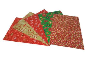 Immagine di Foglio carta regalo natalizia 70x100cm Assortito