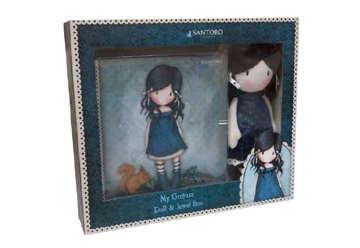Immagine di Set Santoro bambola e portagioie blu-verde