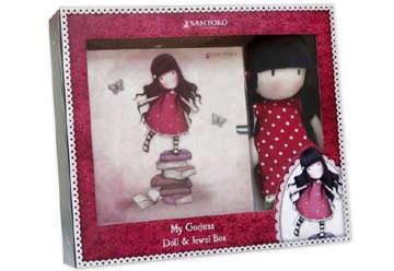Immagine di Set Santoro bambola e portagioie rosso