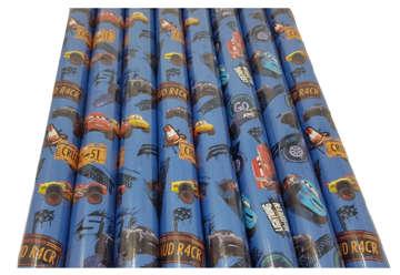 Immagine di Carta regalo in rotolo Cars blu