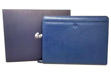 Immagine di Porta blocco e tablet Saffiano in pelle blu