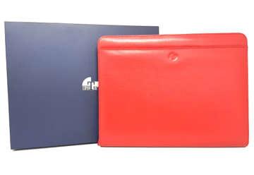 Immagine di Porta blocco e tablet Saffiano in pelle rosso