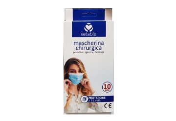 Immagine di Confezione 10 mascherine chirurgiche in tnt