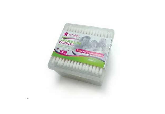 Immagine di Cotton fioc biodegradabili 200pz