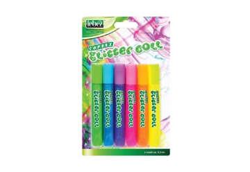 Immagine di Colla glitter colori fluo e pastel 6pz