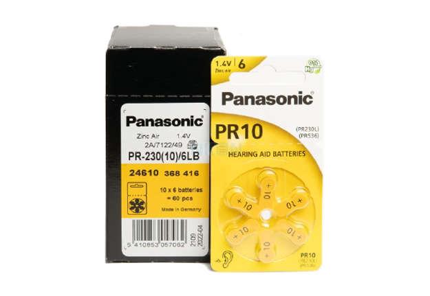 Immagine di Pile Panasonic zinco aria per acustica pr10