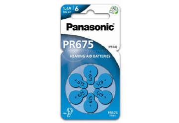 Immagine di Pile Panasonic zinco aria per acustica pr675