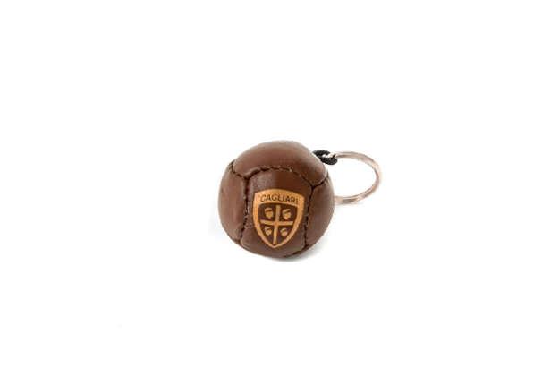 Immagine di Portachiavi pallone antichizzato Cagliari 1920