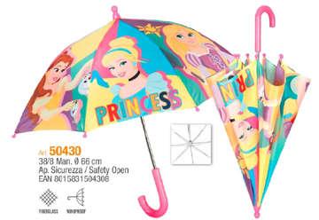 Immagine di Ombrello Perletti manuale Principesse 38cm