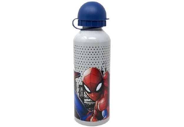 Immagine di Borraccia Spiderman Grigia in alluminio 500ml