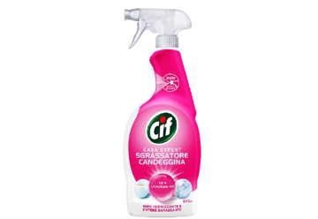 Immagine di Spray Cif sgrassatore con candeggina 650ml + ricarica 650ml