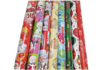 Immagine di Rotolo carta regalo natalizia H.100cmx2mt
