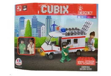 Immagine di Confezione costruzioni Cubix Emergency con 2 personaggi