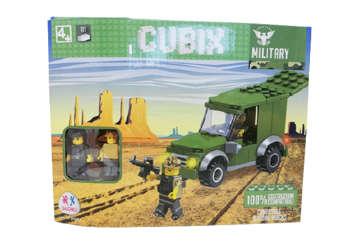 Immagine di Confezione costruzioni Cubix Military con 2 personaggi