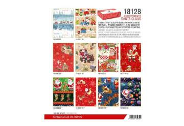 Immagine di Expo 100Pz carta regalo Natalizia Santa Claus 70x100