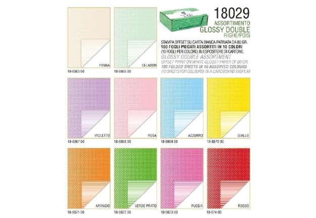Immagine di Expo 100Pz carta regalo Righe e Pois 70x100