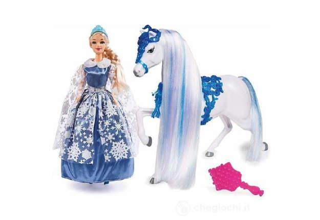 Immagine di Princess regina dei ghiacci 30cm con cavallo