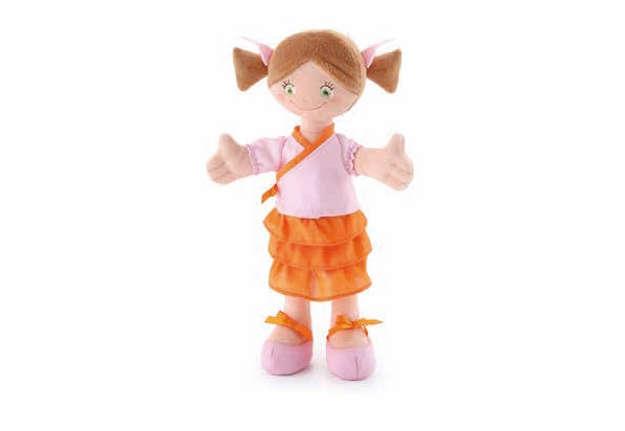 Immagine di Bambola di pezza 30cm mora con codini