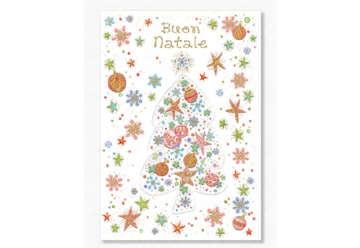 Immagine di Biglietto auguri Natale con rilievo in foil