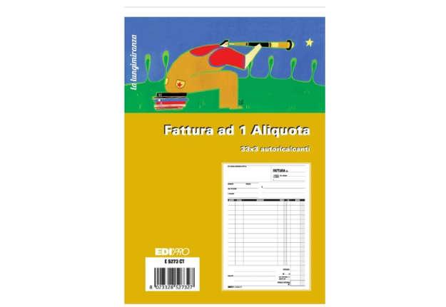 Immagine di Fattura ad 1 Aliquota 33/33/33 autoricalcanti f.to 23x15cm