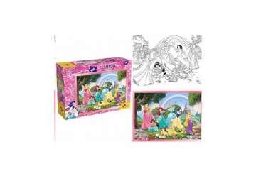 Immagine di Puzzle supermaxi Princess - rainbow world 108pz