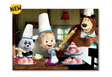 Immagine di Puzzle plus Masha-tutti insieme impariamo 24pz