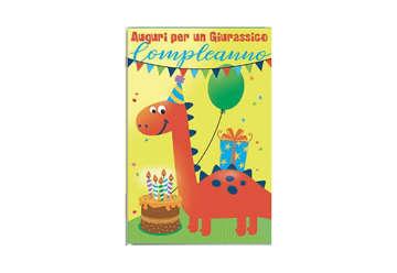 Immagine di Biglietto auguri compleanno dinosauro