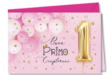 Immagine di Biglietto auguri 1° compleanno Bimba