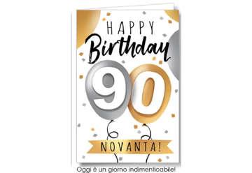 Immagine di Biglietto auguri compleanno 90 anni