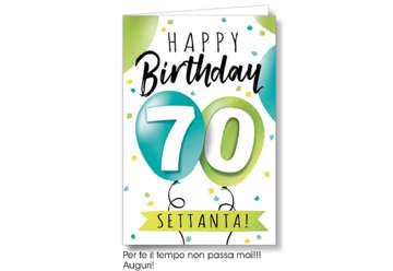 Immagine di Biglietto auguri compleanno 70 anni