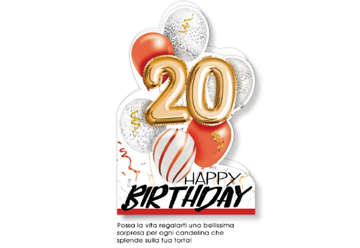 Immagine di Biglietto auguri compleanno 20° anni palloncini