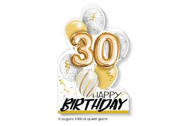 Immagine di Biglietto auguri compleanno 30 anni palloncini