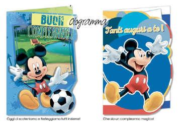 Immagine di Biglietto compleanno Topolino Disney assortito