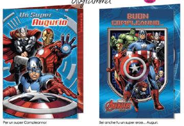 Immagine di Biglietto compleanno Avengers assortito