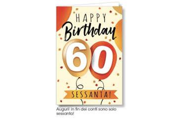 Immagine di Biglietto 60 Anni